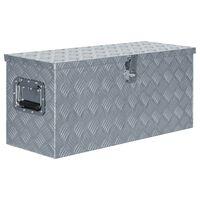 vidaXL Алуминиева кутия, 80x30x35 см, сребриста