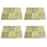 vidaXL 24 бр декинг плочки, 50x50 см, дърво, зелени