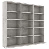 vidaXL CD шкаф, бетонно сив, 102x23x89,5 см, ПДЧ