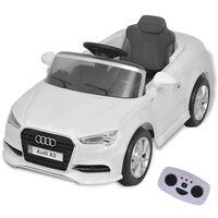 vidaXL Електрически автомобил с дистанционно управление, Audi A3, Бял