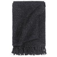 vidaXL Декоративно одеяло, лурекс, 220x250 см, антрацит