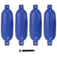 vidaXL Фендери за лодка, 4 бр, сини, 58,5x16,5 см, PVC