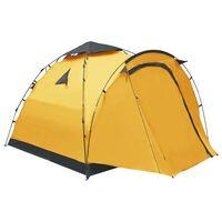 vidaXL Pop up палатка за къмпинг, 3-местна, жълта