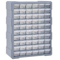 vidaXL Шкаф органайзер с 60 чекмеджета, 38x16x47,5 см