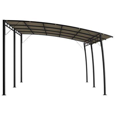vidaXL Градинска тента сенник, 6x3x2,55 м, таупе