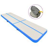 vidaXL Надуваем дюшек за гимнастика с помпа, 800x100x15 см, PVC, син