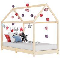vidaXL Рамка за детско легло, бор масив, 90х200 см