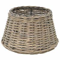 vidaXL Абажур, плетена ракита, 38x23 см, естествен цвят