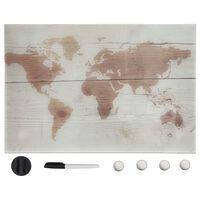 vidaXL Магнитна дъска за стенен монтаж, стъкло, 50x30 см