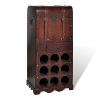 vidaXL Дървен шкаф за вино със стойка за 9 бутилки
