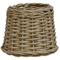 vidaXL Абажур, плетена ракита, 15x12 см, кафяв