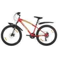 vidaXL Планински велосипед, 21 скорости, 26 цола, 42 см, червен