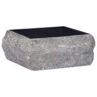 vidaXL Черна мивка, 30x30x13 см, мрамор