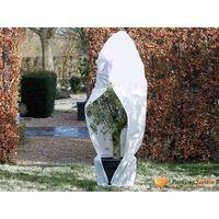 Nature Зимно поларено покривало с цип, 70 гр/м², бяло, 2,5x2,5x3 м