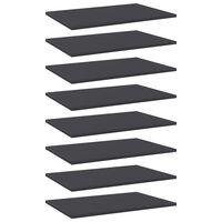 vidaXL Рафтове за етажерка, 8 бр, сиви, 60x40x1,5 см, ПДЧ