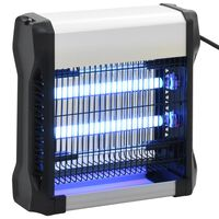vidaXL Инсектицидна лампа, черна, алуминий, ABS, 12 W