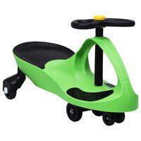 vidaXL Въртяща се кола с клаксон тип играчка за яздене, зелена