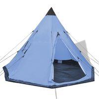 vidaXL 4-месна палатка, синя
