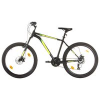 vidaXL Планински велосипед, 21 скорости, 27,5 цола, 42 см, черен