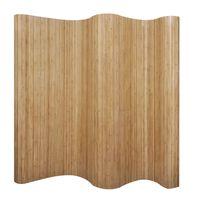 vidaXL Параван за стая, бамбук, цвят натурален, 250x165 см