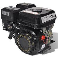 vidaXL Черен бензинов двигател 6,5 к.с. 4,8 kW