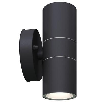 vidaXL Външни LED лампи, 2бр, неръждаема стомана, насочени горе/долу