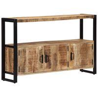 vidaXL Страничен шкаф, 120x30x75 см, манго масив