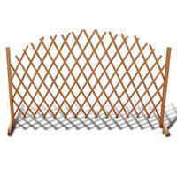 vidaXL Ограда хармоника, дървен масив, 180х100 см
