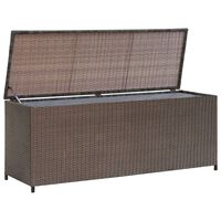 vidaXL Градински сандък за съхранение, кафяв, 120x50x60 см, полиратан