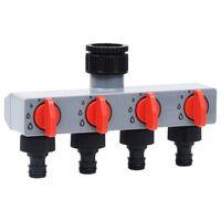 vidaXL Градински автоматичен разклонител за вода с 4 извода