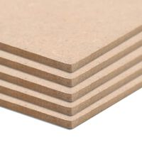 vidaXL 4 бр МДФ плоскости, квадратни, 60x60 см, 12 мм