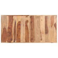 vidaXL Плот за маса, шишамово дърво масив, 16 мм, 140x70 cм