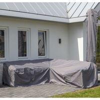 Madison Покривало за градински мебели, 320x255x70 см, ляв ъгъл, сиво