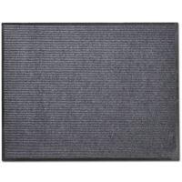 Изтривалка за входна врата от PVC, сива, 90 х 120 см