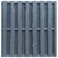 vidaXL Ограден панел, борова дървесина, 180x180 см, сив