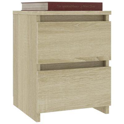 vidaXL Нощно шкафче, дъб сонома, 30x30x40 см, ПДЧ