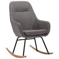 vidaXL Люлеещ се стол, светлосив, текстил