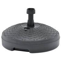 vidaXL Основа за чадър, за пясък/вода, 20 л, антрацит, пластмаса