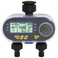 vidaXL Автоматичен електронен таймер за поливане, двоен изход