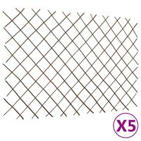 vidaXL Върбови огради хармоника, 5 бр, 180x120 см