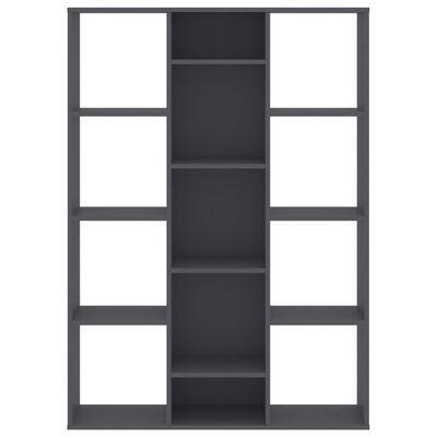 vidaXL Разделител за стая/библиотека, сив, 100x24x140 см, ПДЧ