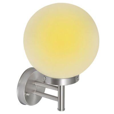 Стенна лампа от неръждаема стомана, сферична форма