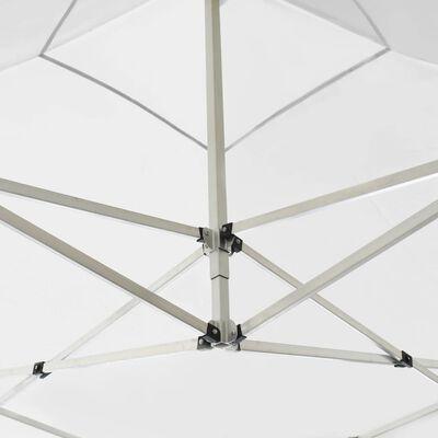 vidaXL Професионална сгъваема шатра, алуминий, 3х3 м, бяла