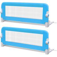 vidaXL Ограничители за бебешко легло, 2 бр, сини, 102x42 см