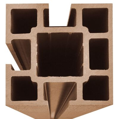 vidaXL Ограден панел, WPC, 105x(105-185) см, кафяв