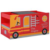 vidaXL Детски комплект маса и столове 3 части дизайн на пожарна дърво