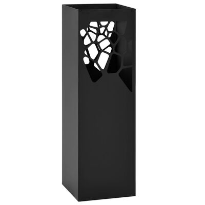 """vidaXL Поставка за чадъри """"Камъни"""", стомана, черна"""