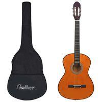 """vidaXL Класическа китара за начинаещи с калъф, 4/4, 39"""""""