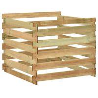 vidaXL Градински ламелен компостер, 100x100x80 см, импрегниран бор