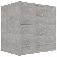 vidaXL Нощно шкафче, бетоново сиво, 40x30x40 см, ПДЧ